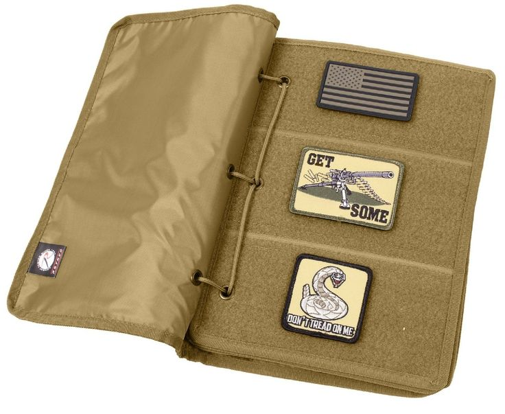 Coyote Brown Hook & Loop Tactical Patch Book - 10 Page Morale Patches Holder