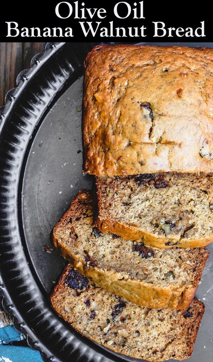 Cardamom Banana Walnut Bread Made With Olive Oil Recipe Easy