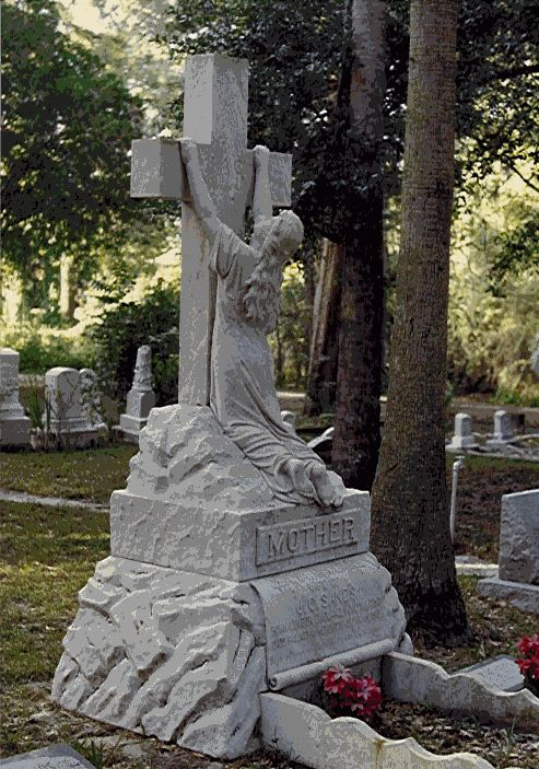 "Clara Sands Monument, ""Rock of Ages,"" at the historic Westview Cemetery in Palatka, Putnam County, Florida."