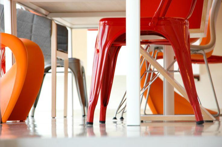 #red #orange #chair