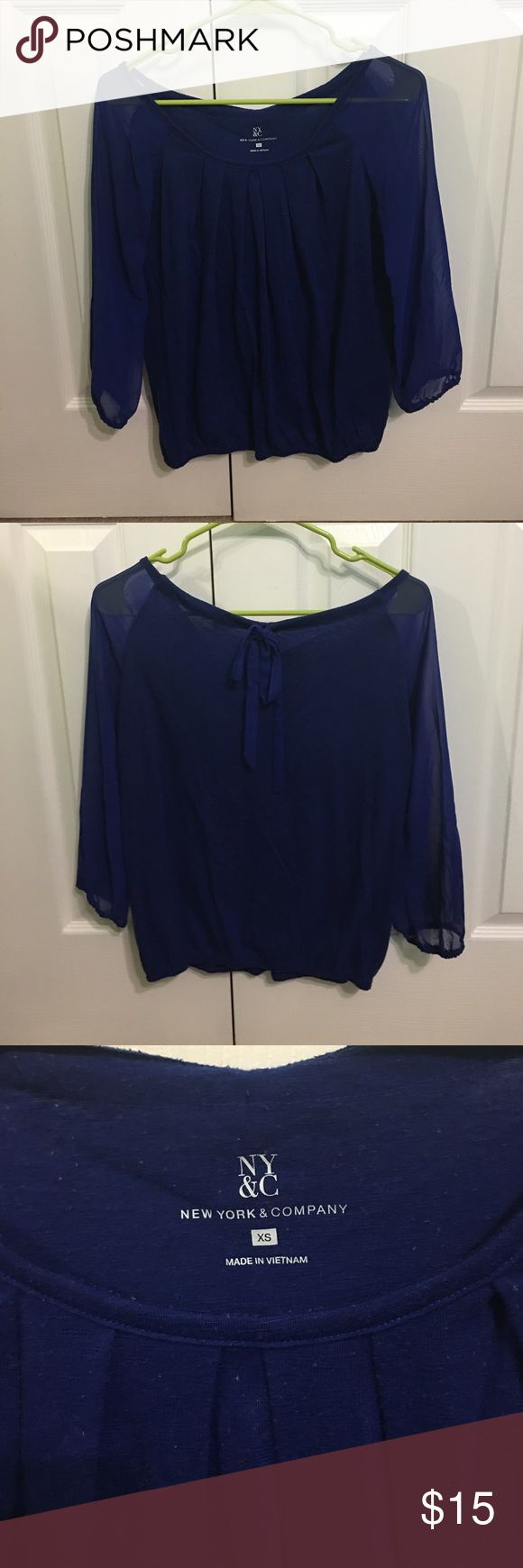 Royal Blue Blouse Outfit 111