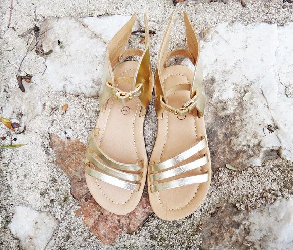 Hermes Gold Winged Kids/Baby Sandals/Genuine Greek by Twininas