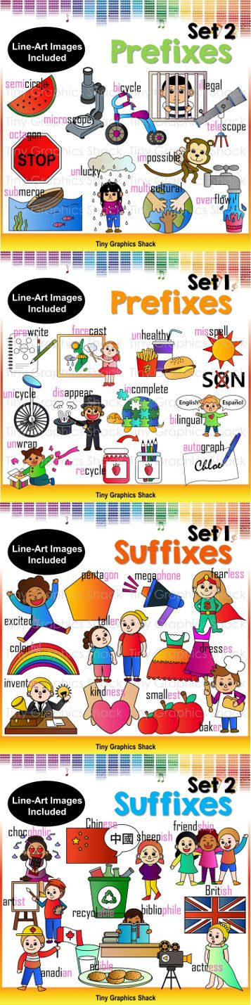so many images for prefixes and suffixes!