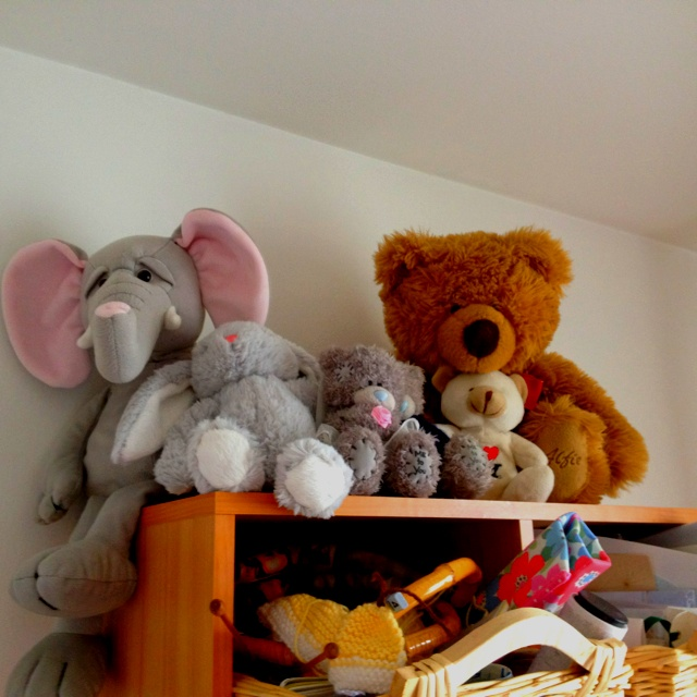 The teddies are trying to be patient:  Teddy Bears, Be Patient
