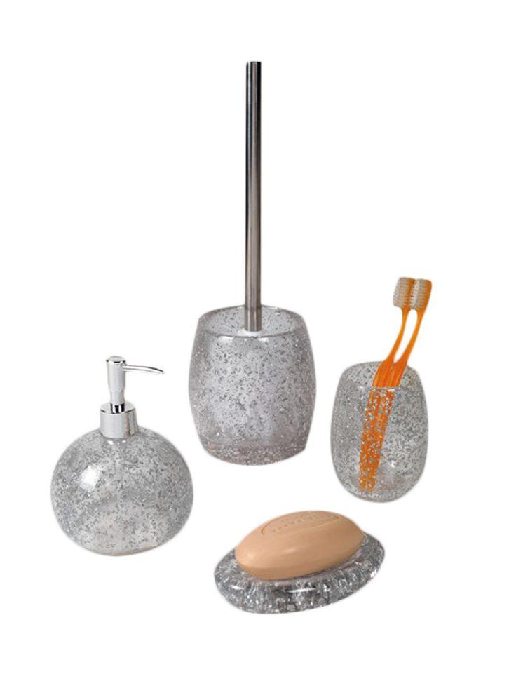 crystal bathroom accessories sets%0A Melissa Bathroom Set    PC  by Nameek u    s at Gilt