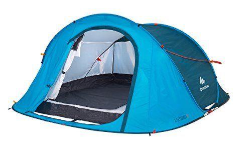 Quechua Waterproof Pop Up Camping Tent 2 Seconds Easy III, 3 Man
