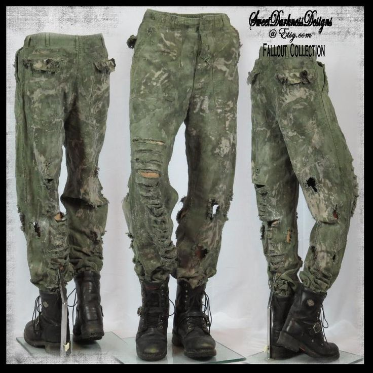 Post Apocalyptic PANTS MENS Vietnam Army Pant Mad Max Pants Fallout Pants SIZE 31 Short Military Zombie Wasteland Pants by WastelandWearable by WastelandWearable on Etsy
