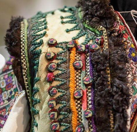 "Ukrainian embroidery leather vest ""keptar"". Украинская вышивка, Українська вишивка. Кептар, Гуцульщина, Україна."