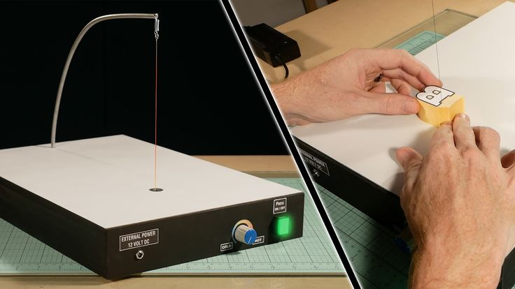 Build Your Own Hot Wire Foam Cutter - Professional Tools for Modelers - YouTube