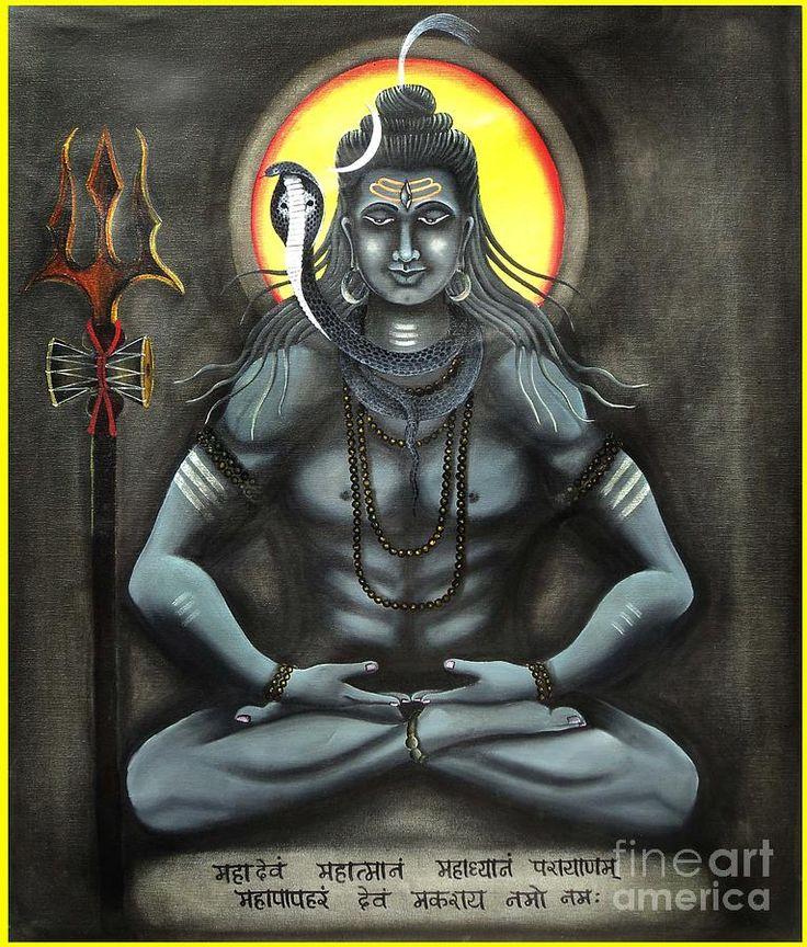 shiva paintings | Lord Shiva Painting Lord shiva in meditation