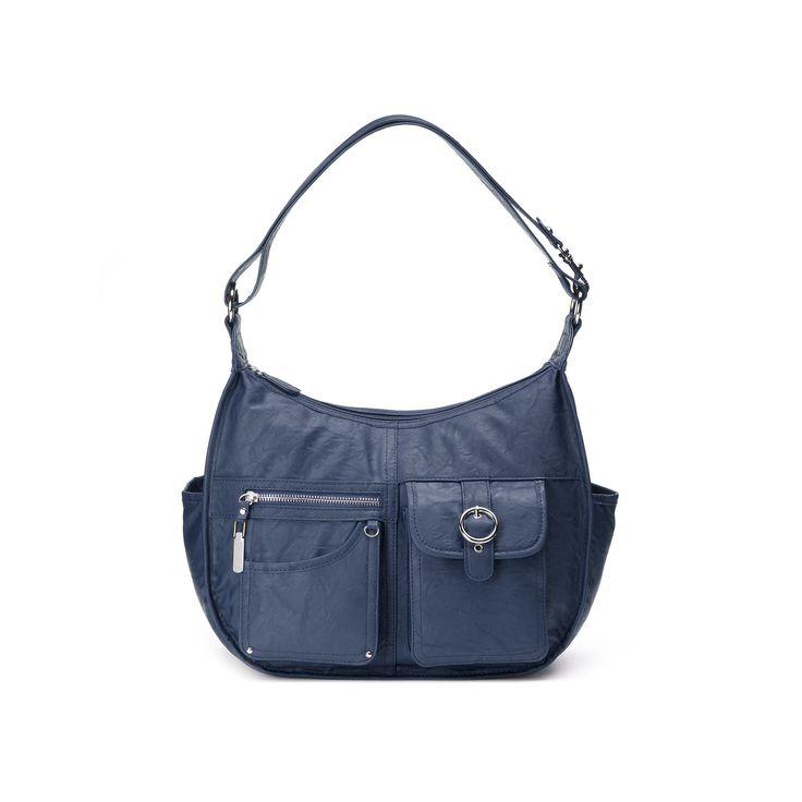 Rosetti Riveting Seams Convertible Hobo Bag, Women's, Blue (Navy)
