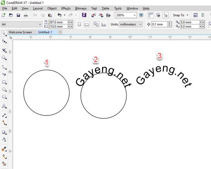 Membuat tulisan melengkung atau mengikuti objek pada corelDRAW - Gayeng