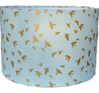 Mintgroene lamp Babykamer Mintgroene lamp met gouden vogeltjes voor in ...