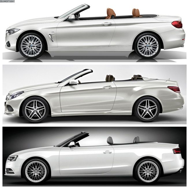 BMW 4 Series Convertible Vs. Mercedes-Benz E-Class Vs