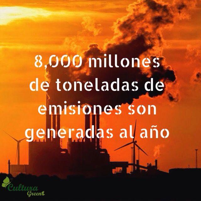 #SabiasQue la cantidad de emisiones per capita es de 4,52 toneladas de CO2 por habitante. #cambioclimático
