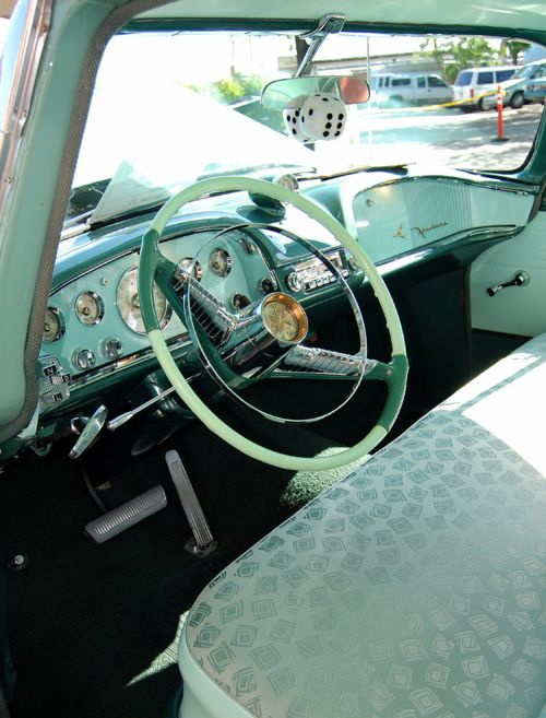 I adore the insides of vintage cars, I get this from my dad always taking me to car shows!