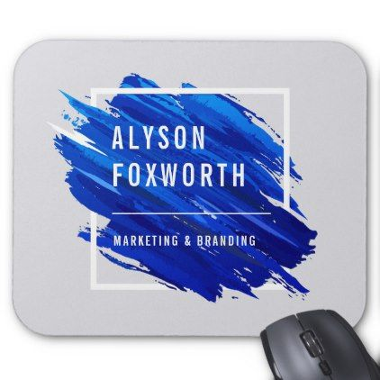 #Abstract Paint Logo Custom Mouse Pad - #office #gifts #giftideas #business