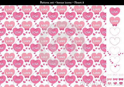 Seamless Heart Backgrond In Rose Pink Color Theme With Bonus Icons - 3 - Download From Over 61 Million High Quality Stock Photos, Images, Vectors. Sign up for FREE today. Image: 94341534