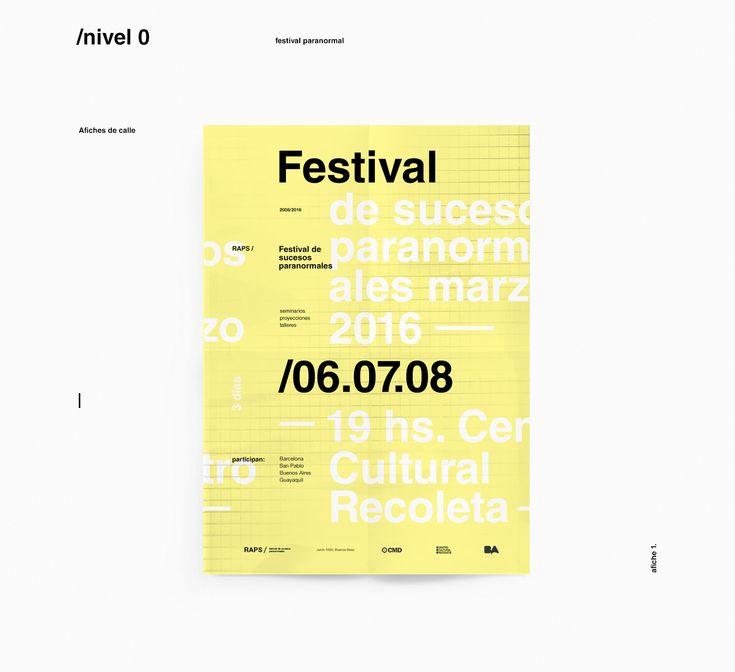 RAPS / Festival de Sucesos Paranormales - Sistema de Alta Complejidad - Proyecto final para Diseño 3 - Cátedra Gabriele -  Universidad de Buenos Aires (FADU/UBA) 2015