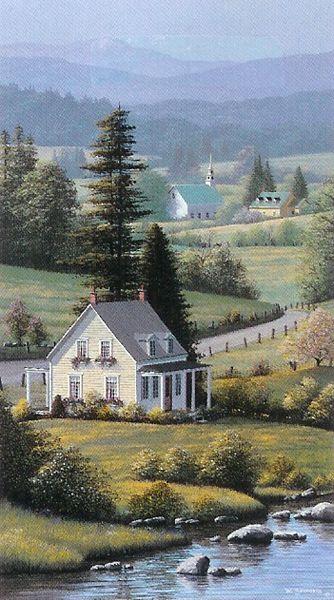 """""""Spring Cottage"""" Bill Saunders"""