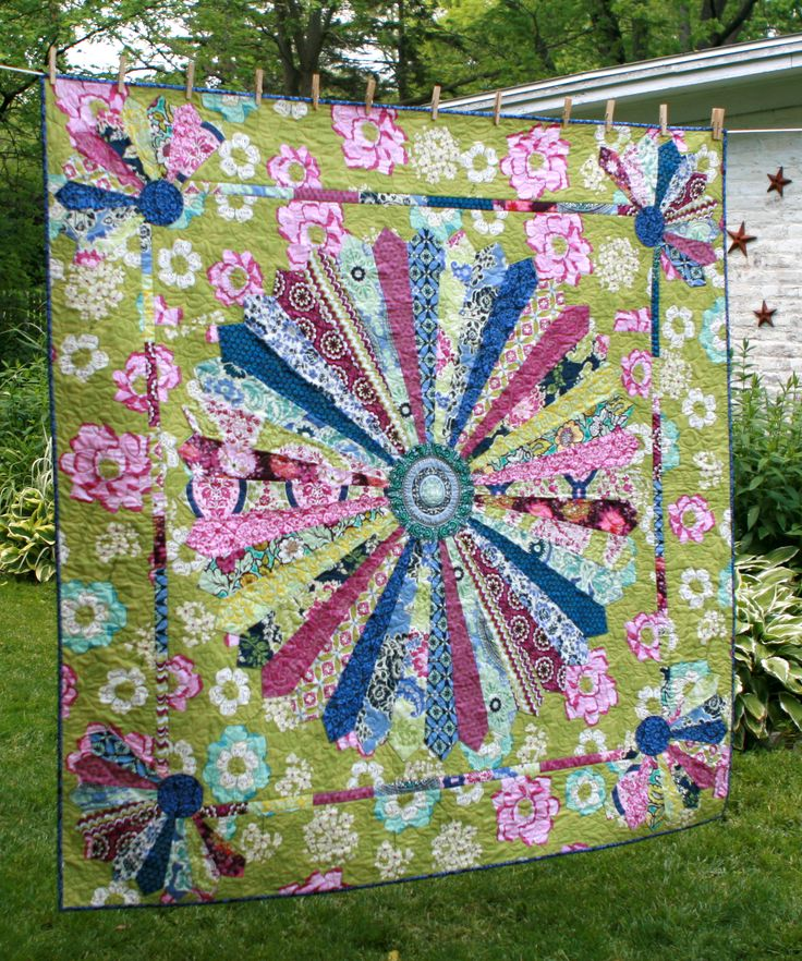 495 Best Images About Dresden Plate Quilts On Pinterest