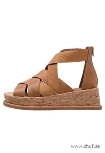 100% authentic Jeffrey Campbell Sandaletter med kilklack - brown - Kvinna - Sandaletter 0204095