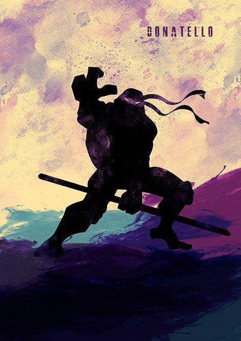 Ninja Turtles Paint Style Minimalist Movie Poster by moonposter