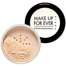 MAKE UP FOR EVER - Super Matte Loose Powder in Translucent Natural 12 to set highlighting when contouring