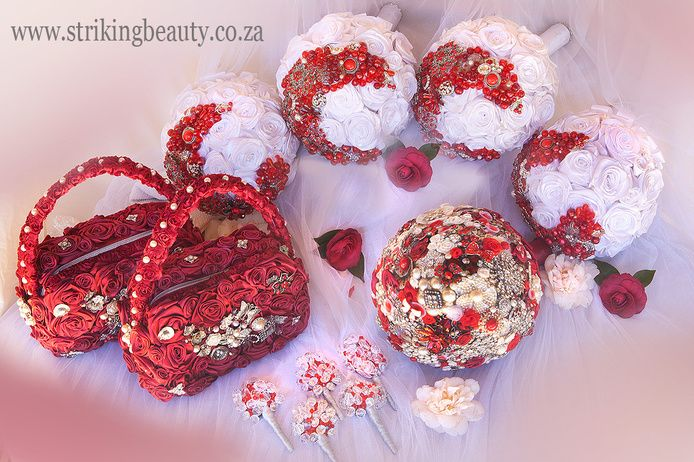 Striking Beauty Brooch Bouquets - Durban Wedding Accessories, Wedding Jewellery