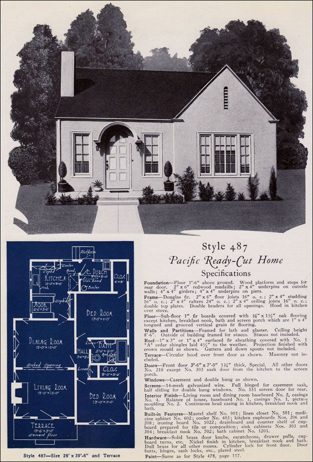 487 from pacifics book of homes pacific ready built homes - Cylinder Home Floor Plans