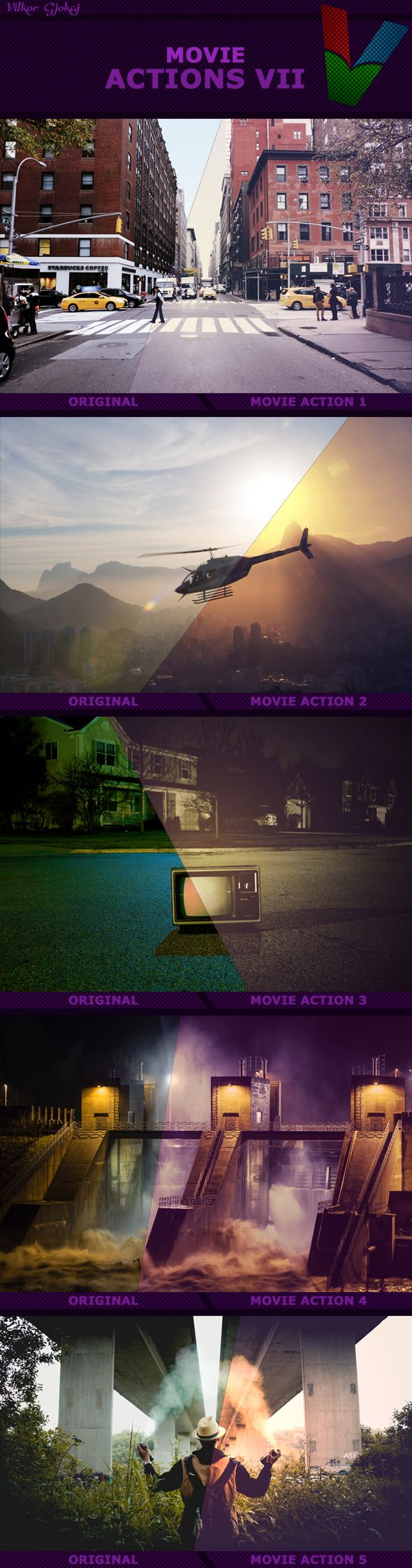 Movie Photoshop Actions. Download here: https://graphicriver.net/item/movie-actions-vii/17096954?ref=ksioks