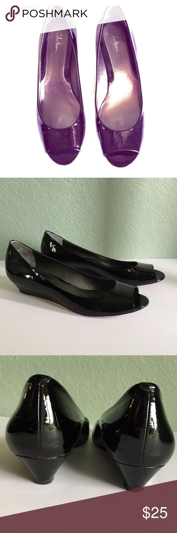 Cole Haan Air Elly Wedges Cole Haan Air Elly Black Peep Toe Low Wedges ~ Made with Nike Air technology for added comfort. ~ Size 11 B Cole Haan Shoes Wedges