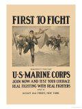 marines: Vintage Posters, Military Posters, Sidney Riesenberg, Democracy S Vanguard, Allposters Com, Courage Posters, Join, 500 000 Posters, Courage Prints