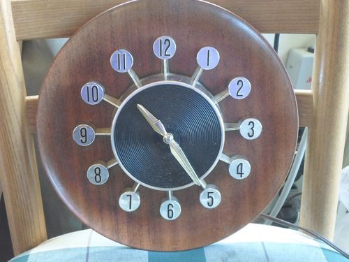 Vintage Kitchen Wall Clock SPARTUS Wall Clock Electric