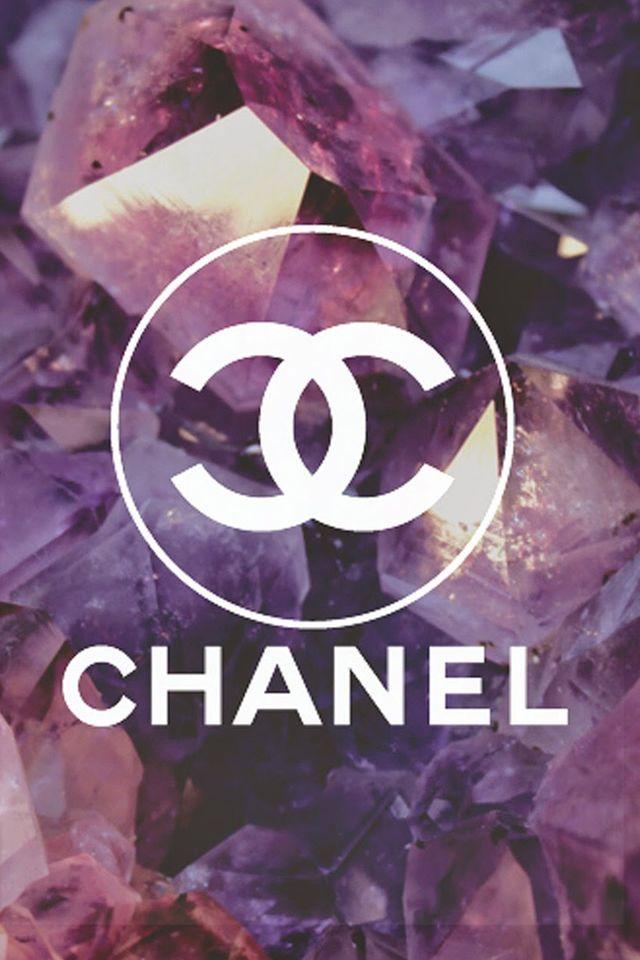Coco Chanel Logo Diamonds Background #iPhone #4s #wallpaper
