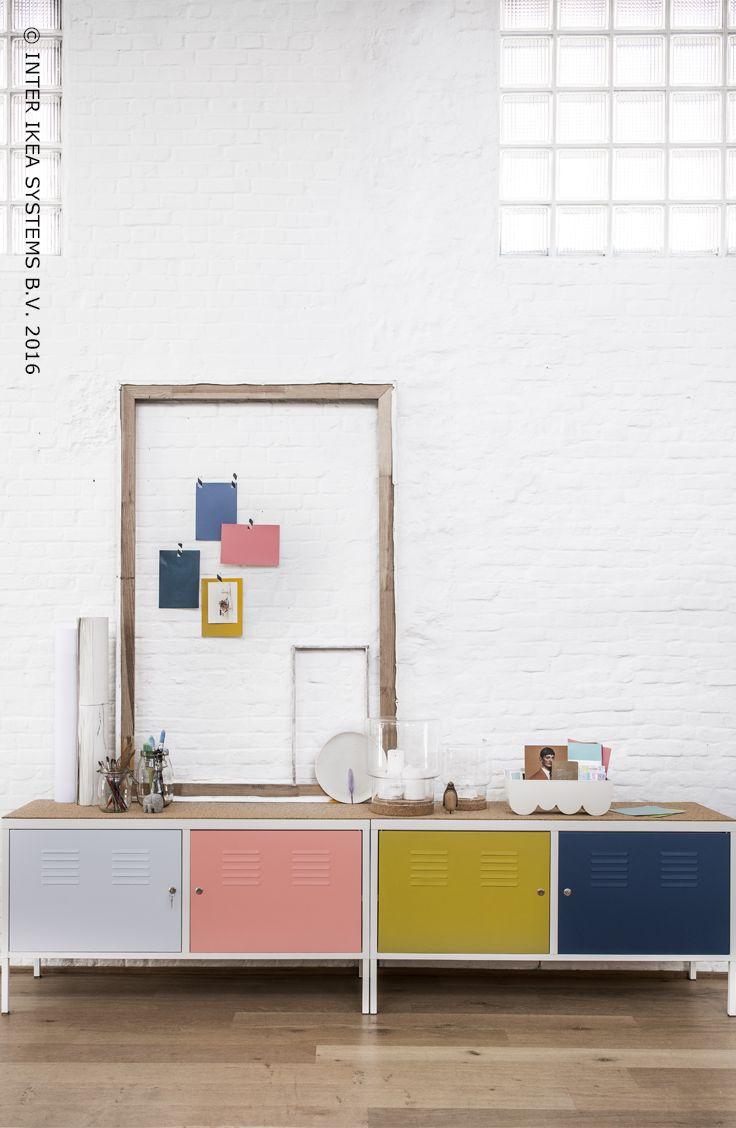 Transformez une simple armoire métallique en un meuble tendance. Découvrez les étapes DIY pour recréer cette armoire chez vous ! #IKEABE #IKEADIY #SauvezLesMeubles