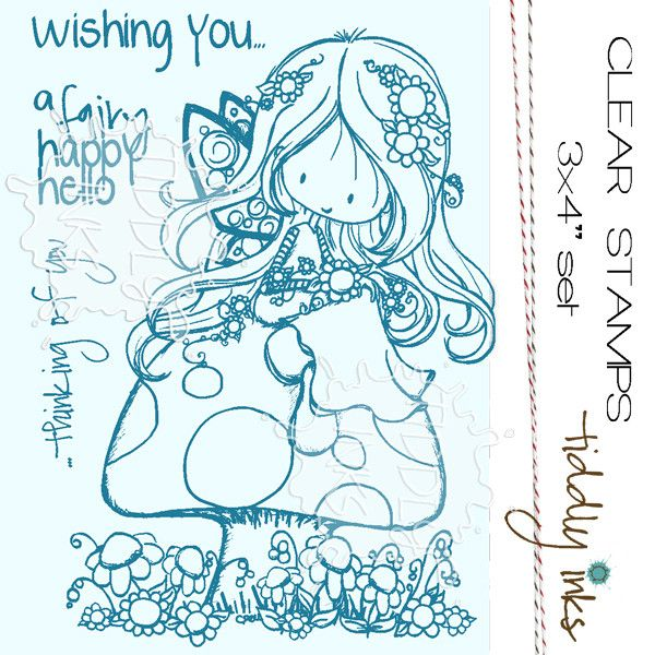 - This photopolymer clear stamp set (sized 3x4 inches or 6.5 x 10 cm) includes all images shown. - Wryn is sized approximately 2.5 x 3.5 inches (5 x 7 cm). The other stamps are proportionally sized to