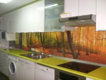 53 best digitally printed glass splashbacks images on - Fotomural para cocina ...