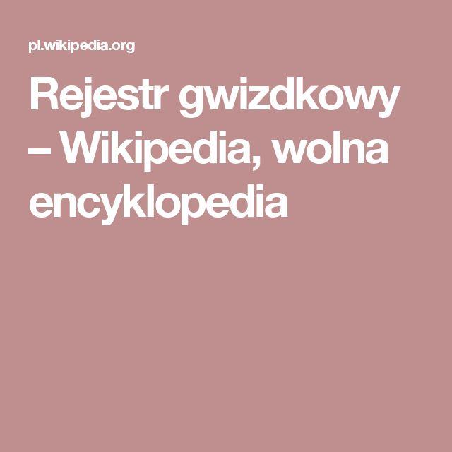 Rejestr gwizdkowy – Wikipedia, wolna encyklopedia