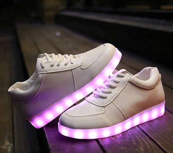 Led sneakers light up shoes Led shoes light up by Bubbblegumdisco
