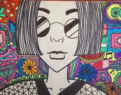 "Check out new work on my @Behance portfolio: ""La chica rara de los lentes redondos"" http://be.net/gallery/33553257/La-chica-rara-de-los-lentes-redondos"
