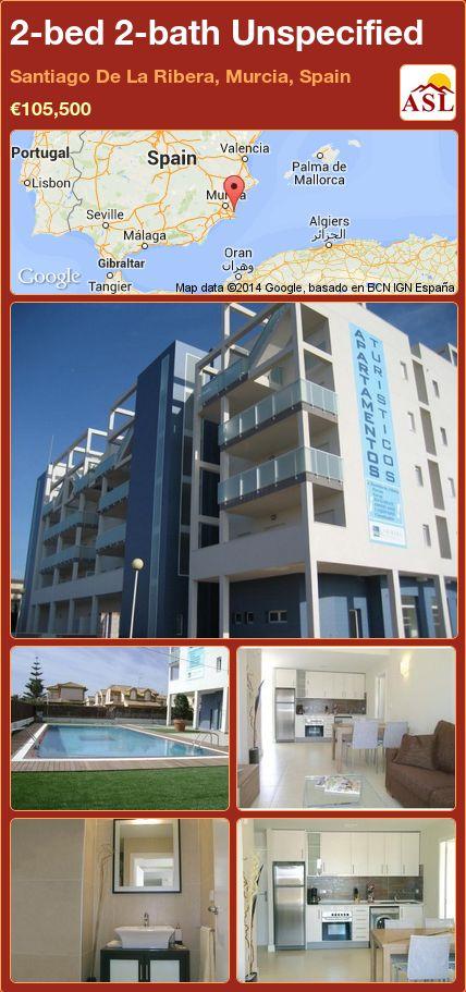 2-bed 2-bath Unspecified in Santiago De La Ribera, Murcia, Spain ►€105,500 #PropertyForSaleInSpain