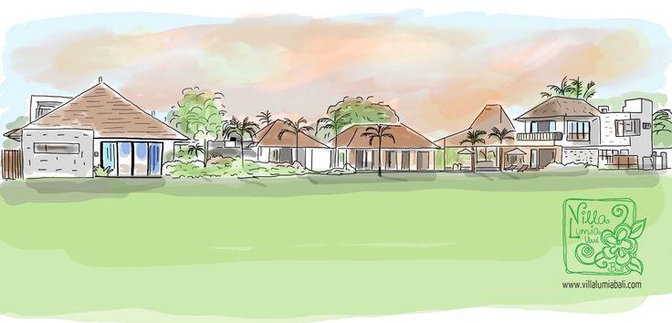 Villa Lumia Bali - Aquarelle www.villalumiabali.com