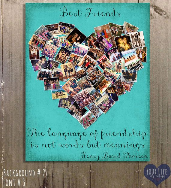 Gift for Best Friends Personalized Gift Photo by YourLifeMyDesign. Gift for Best Friends, Personalized Gift, Photo Collage, Gift for Sister, Sorority Gifts , Personalized Birthday Gift, Maid of Honor gift.