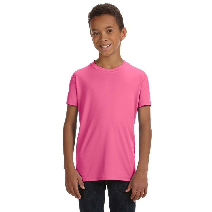 For Team 365 Performance Boys' Sport Chrty Short-sleeve T-shirt