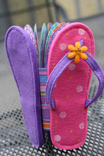 TAC Savvy Projects for People on the Go: Tutti Frutti Flip Flop Mini Album