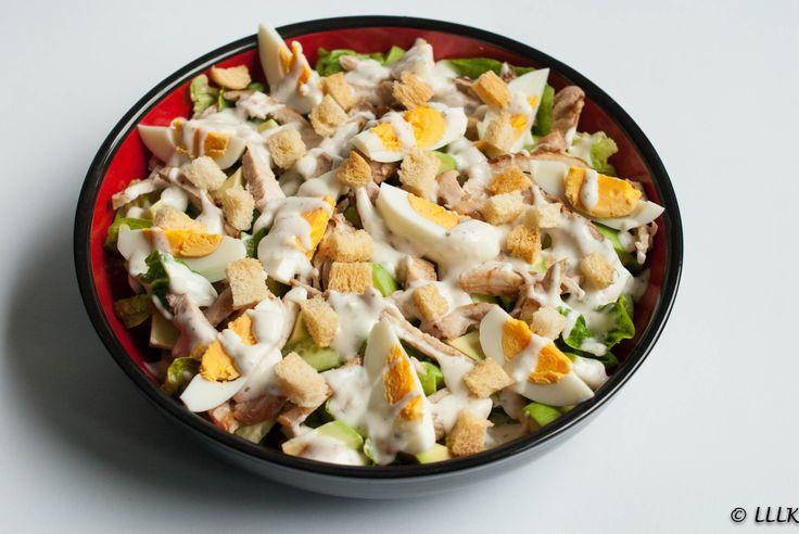 Caesar salade met gebakken kip