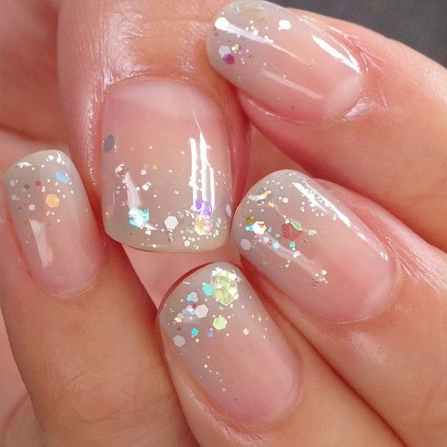 Clear Glitter Nail Polish With Images Clear Glitter Nails Red