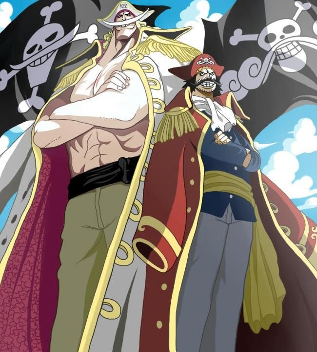 """Gol D. Roger & Edward """"Whitebeard"""" Newgate. The Pirate King and The Pirate King runner up!!!!!"""