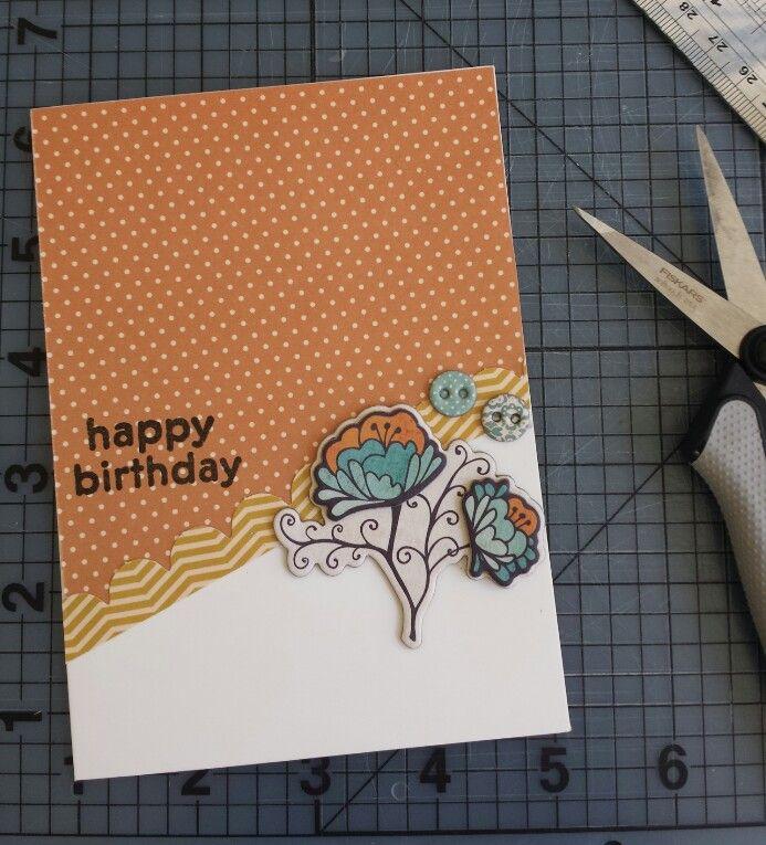 Happy birthday card #cardmaking #craft #diy